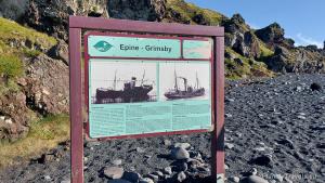 Djupalonssandur - Black Beach, Epine trawler pieces