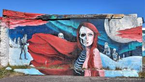 Iceland, Hellissandur, Iceland's capital of street art