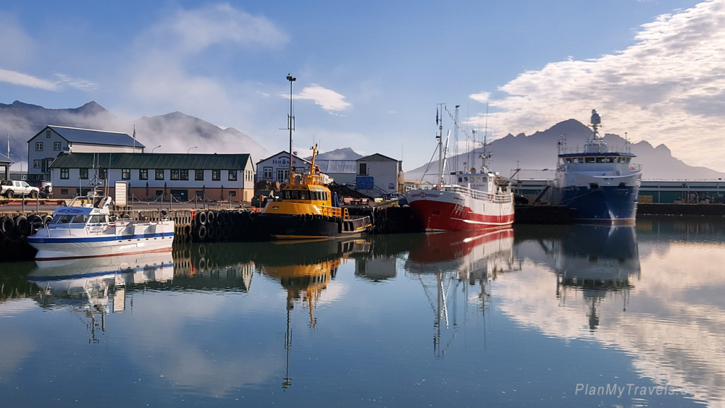 Höfn, a port town in the South-East of Iceland