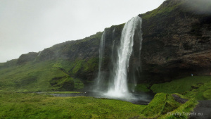 The South Coast of Iceland, Seljalandsfoss watrefall