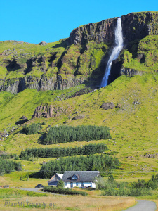 Snaefellsnes Peninsula, Bjarnarfoss waterfall