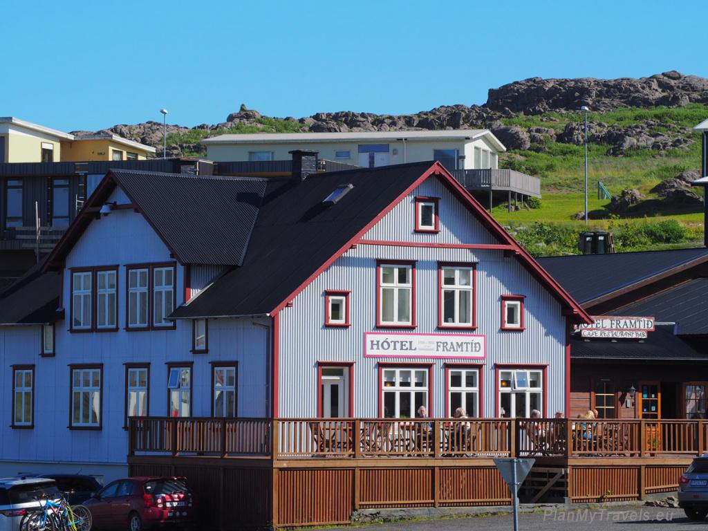 Iceland, Djupivogur, hotel Framtid