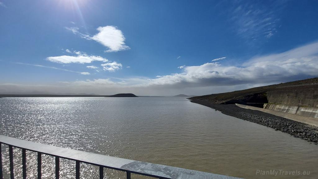 Iceland, Kárahnjúkar Hydroelectric power station, Halslon reservoir